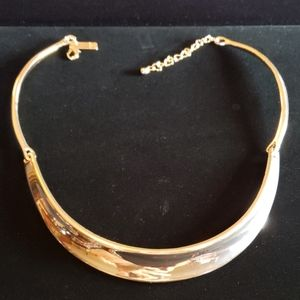 INC rosy gold sectioned choker